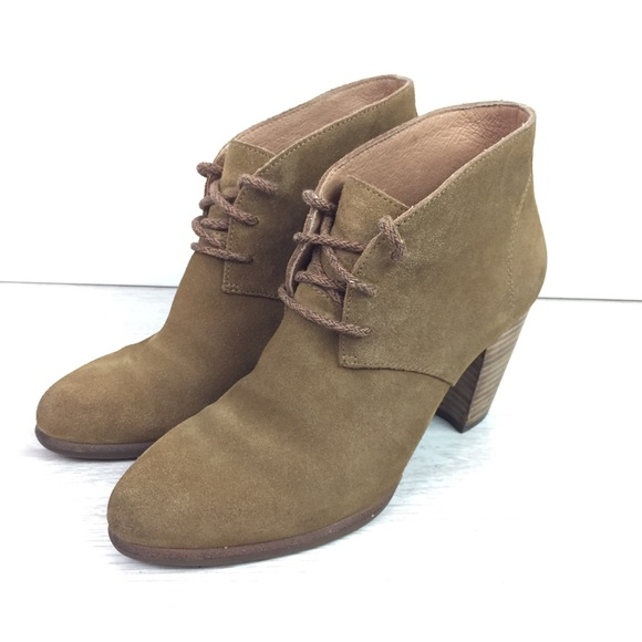 """766fe34909f UGG 3"""" Heel Lace Up Suede Oxford Booties Size 7"""